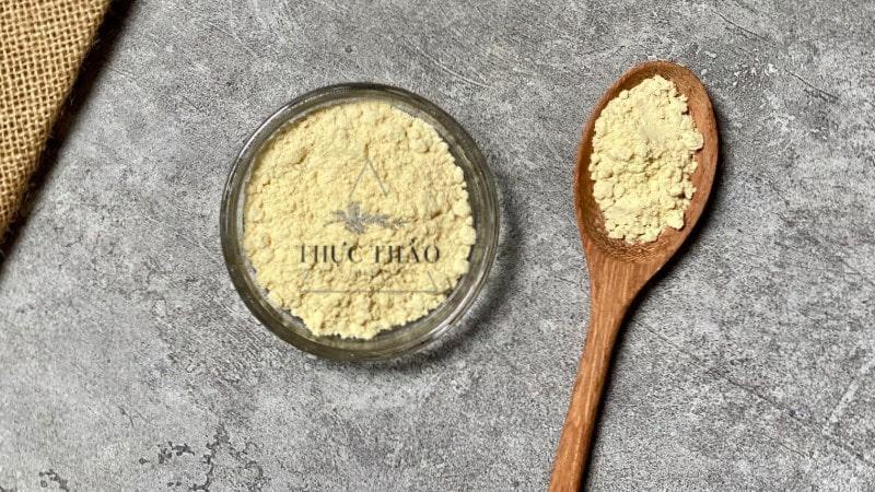 Bột đậu nành dùng làm mặt nạ dưỡng ẩm cho da