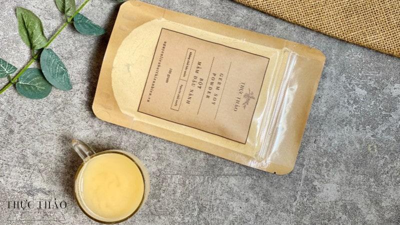 Sử dụng mầm đậu nành để uống hoặc đắp ngoài da