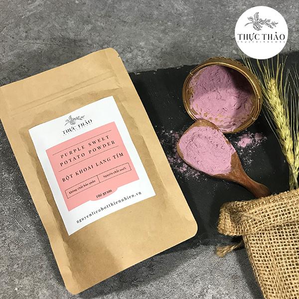 Bột khoai lang tím dùng trong làm đẹp và chế biến thực phẩm