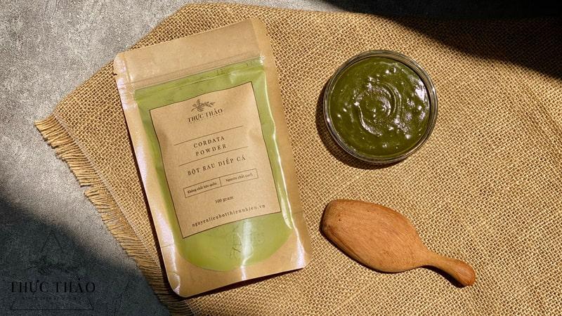 Bột nhà Thực Thảo 100% nguyên chất, giữ được mùi vị và màu sắc tự nhiên