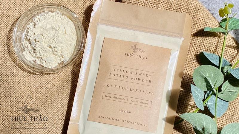 Tìm mua bột khoai lang vàng tại Thực Thảo uy tín, chất lượng