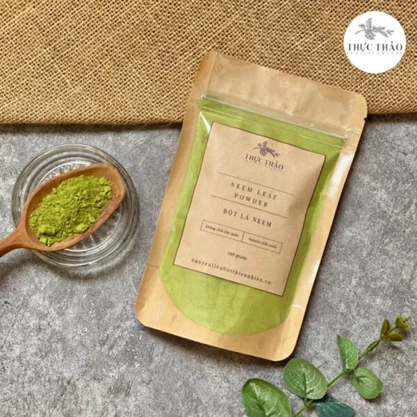 Bột lá neem hỗ trợ trị mụn, ngừa viêm tại Thực Thảo