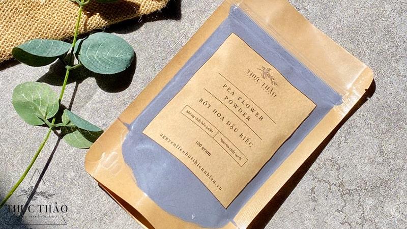 Hoa đậu biếc dang bột có nhiều ứng dụng trong cuộc sống