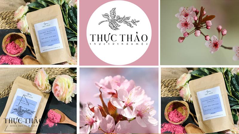 Bột hoa anh đào giữ được màu sắc và mùi thơm đặc trưng tại Thực Thảo