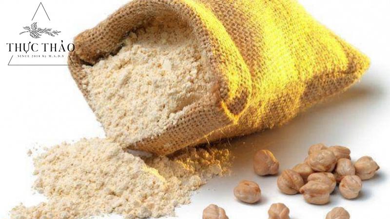 Mặt nạ dưỡng da từ bột đậu gà giúp da sáng mịn