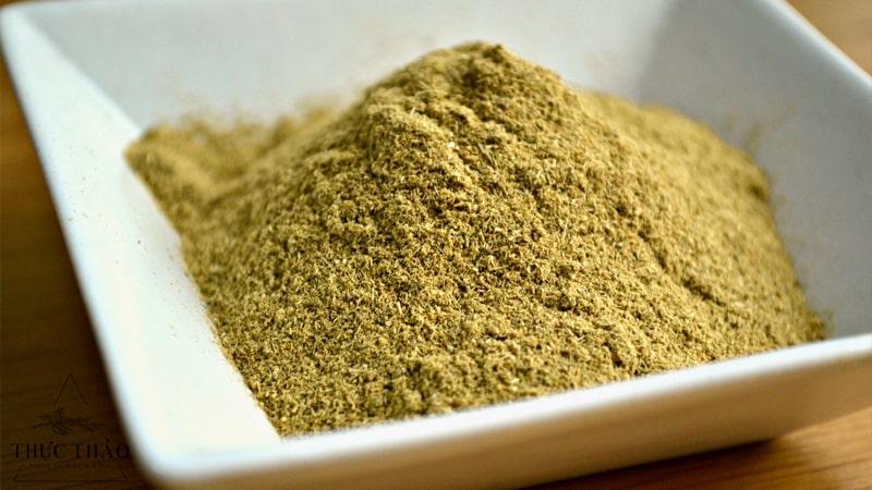 Chát bột siêu mịn giữ được mùi thơm tự nhiên của sả
