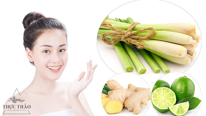 Sử dụng sả để xông mặt giúp sạch da và giải cảm