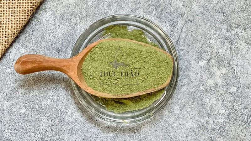 Chất bột cỏ ngọt tại Thực Thảo mịn và giữ được màu xanh tự nhiên