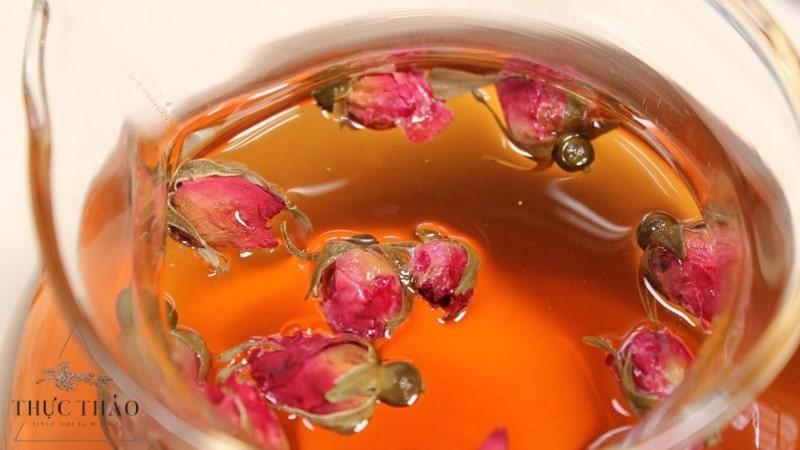Trà nụ hoa hồng hay trà cánh hoa hồng đều có công dụng như nhau