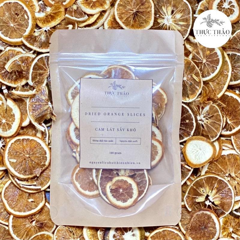 Cam lát sấy khô dùng làm trà uống tốt cho sức khỏe tại Thực Thảo