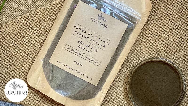 Mè đen gạo lứt khuyến khích dùng trong thực đơn ăn dặm của trẻ