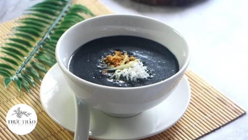 Cháo hoặc súp gạo lứt mè đen vô cùng bổ dưỡng