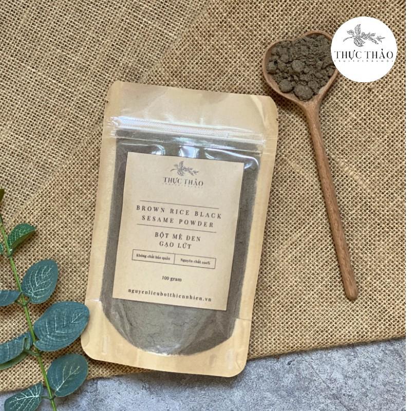 Bột mè đen gạo lứt nguyên chất dùng như bột thực phẩm tại Thực Thảo