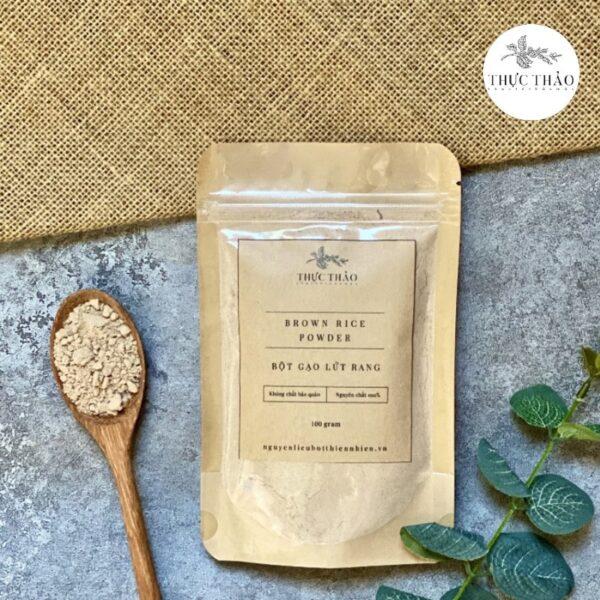 Sản phẩm bột gạo lứt rang uống hỗ trợ sức khỏe, giảm cân tại Thực Thảo