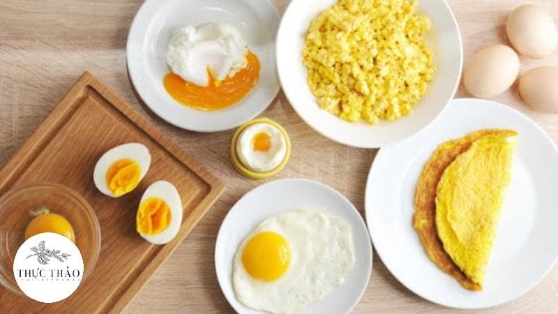 Trứng giàu protein, có khả nắng nhũ hóa và kết dính tốt